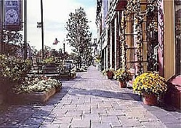 picture of Milford Michigan downtown sidewalk